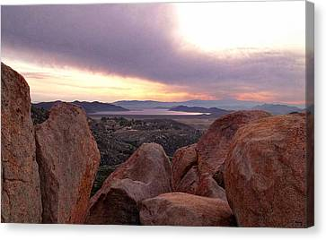 Sunset Over Diamond Valley Lake Canvas Print by Glenn McCarthy Art and Photography