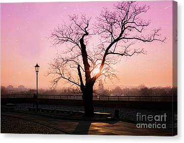 Sunset Over Krakow Canvas Print by Juli Scalzi