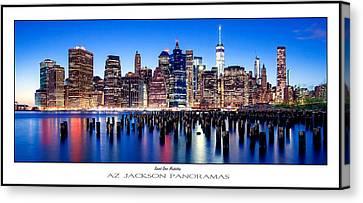 Sunset Over Manhattan Poster Print Canvas Print by Az Jackson