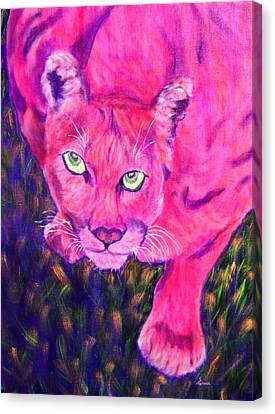 Sunset Prowler Canvas Print by Sandy Hemmer