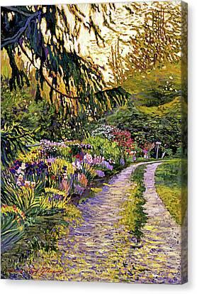 Sunset Road Impressions Canvas Print by David Lloyd Glover