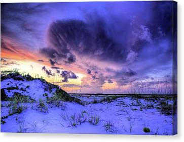 Sunset Storms Over Pensacola Beach Canvas Print by JC Findley
