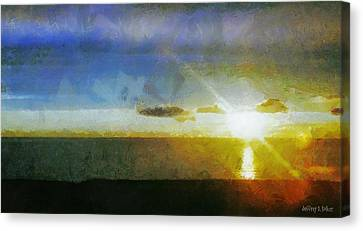Sunset Under The Clouds Canvas Print by Jeff Kolker