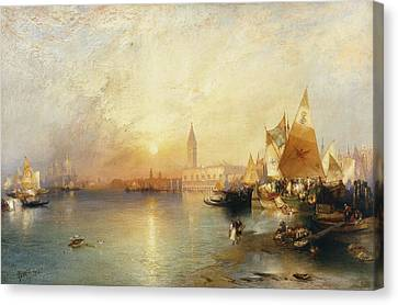 Sunset Venice Canvas Print by Thomas Moran