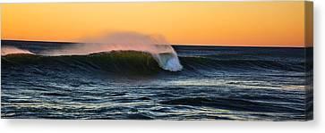 Sunset Wave Canvas Print by Pelo Blanco Photo