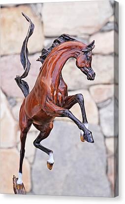Sunshine Dancer Bronze Sculpture  Canvas Print by J Anne Butler