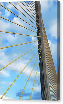 Sunshine Skyway Bridge Angle Canvas Print by Amanda Vouglas