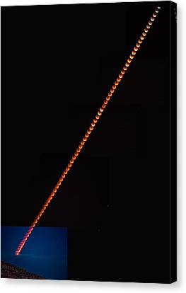 Super Blood Moon Eclipse 2015 Canvas Print by Peter Tellone
