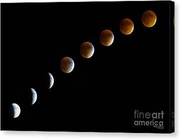 Super Blood Moon Time Lapse Canvas Print by Jennifer White