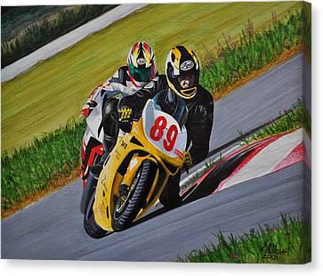 Superbikes Canvas Print by Kenneth M  Kirsch