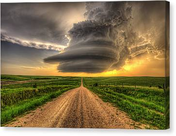 Supercell Highway - Arcadia Nebraska Canvas Print by Douglas Berry