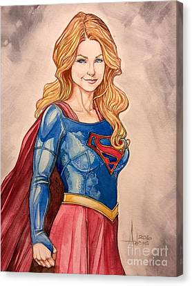 Supergirl Canvas Print by Jimmy Adams