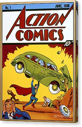 Superman Comic Book, 1938 Canvas Print by Granger