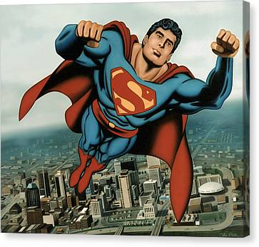 Superman Canvas Print by Van Cordle