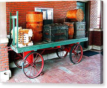 Supply Wagon Canvas Print by Steve C Heckman