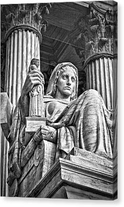 Supreme Court Building 14 Canvas Print by Val Black Russian Tourchin