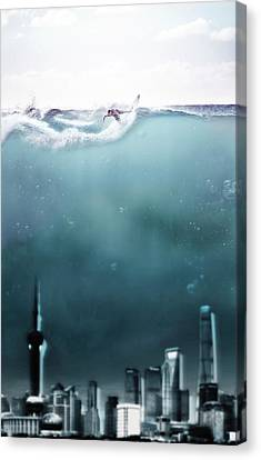 Surf Canvas Print by Jacky Gerritsen