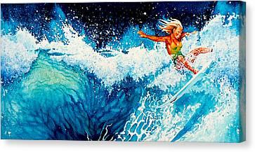 Surfer Girl Canvas Print by Hanne Lore Koehler