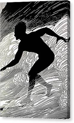 Surfer Canvas Print by Hawaiian Legacy Archive - Printscapes
