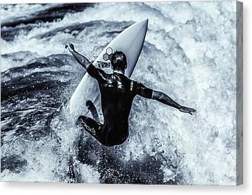 Surfers Cross Canvas Print by Thomas Gartner