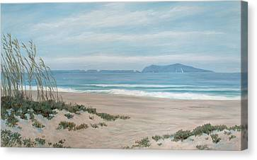 Surfers Knoll Anacapa View #5 Canvas Print by Tina Obrien