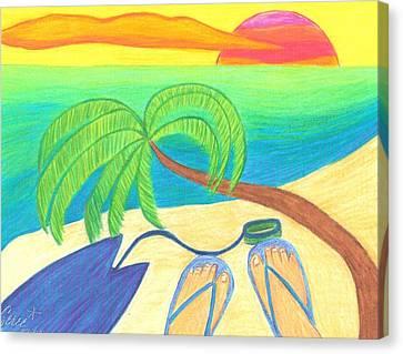 Surfer's Sunset Canvas Print by Geree McDermott