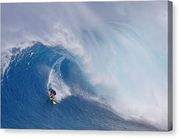 Surfing Jaws Canvas Print by Peter Stahl