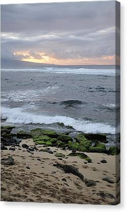 Surfing Sunset Canvas Print by Andy Smy