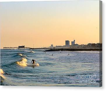 Surf's Up Canvas Print by Arthur Herold Jr