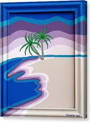 Surreal Palms Canvas Print by Lourdes  SIMON