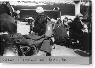 Survivors Of The Titanic Disaster Canvas Print by Everett