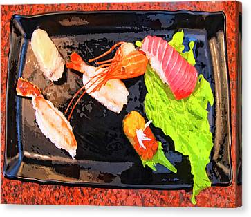 Sushi Plate 2 Canvas Print by Dominic Piperata