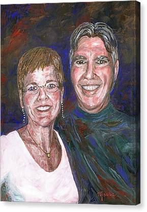Susie And Norm Portrait Canvas Print by Linda Mears