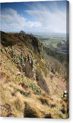 Sutton Bank And Blue Sky Canvas Print by Deborah Benbrook