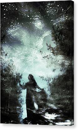 Swamp Witch Canvas Print by Cambion Art