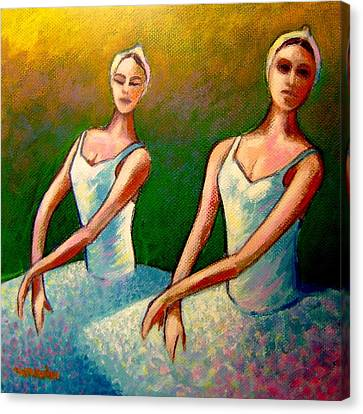 Swan Lake I Canvas Print by John  Nolan
