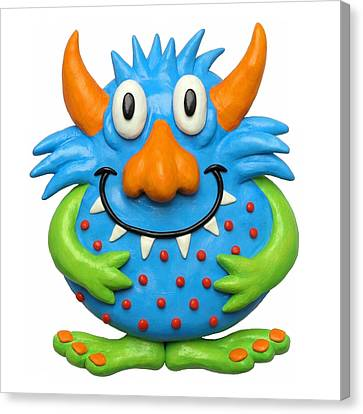 Sweet Spotted Monster Canvas Print by Amy Vangsgard