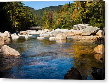 Swift River View Canvas Print by Sue OConnor