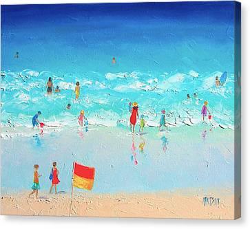 Swim Day Canvas Print by Jan Matson
