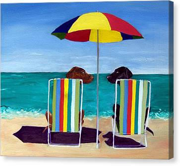 Swim Canvas Print by Roger Wedegis