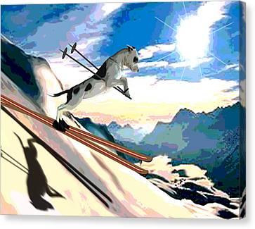Swiss Alps Canvas Print by Jann Paxton