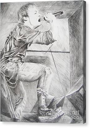 Sybreed - Ben Nominet Canvas Print by Melissa Gallardo