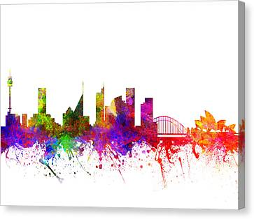 Sydney Australia Cityscape 02 Canvas Print by Aged Pixel