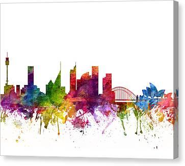 Sydney Australia Cityscape 06 Canvas Print by Aged Pixel