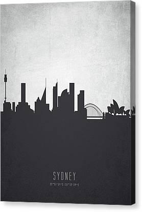 Sydney Australia Cityscape 19 Canvas Print by Aged Pixel