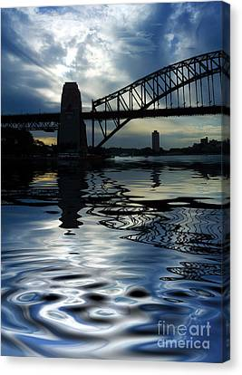 Sydney Harbour Bridge Reflection Canvas Print by Avalon Fine Art Photography