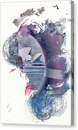 Sydney Opera House Abstract Canvas Print by Az Jackson