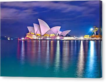 Sydney Opera House Pre Dawn Canvas Print by Az Jackson