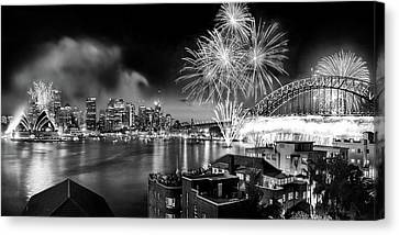 Sydney Spectacular Canvas Print by Az Jackson