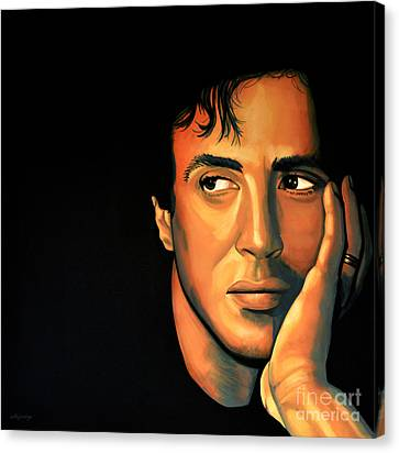 Sylvester Stallone Canvas Print by Paul Meijering